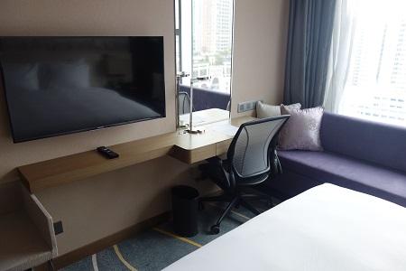 ヒルトン香港のキングベッド
