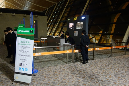 上海浦東空港のゲート