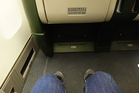 エバー航空のシートピッチ