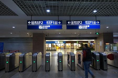 上海浦東空港の地下鉄