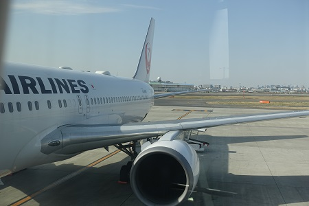 JAL国際線機内