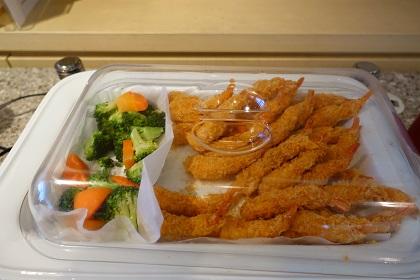 成田UAラウンジの食事類
