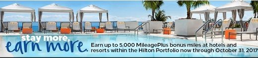 ヒルトンとKaligoでキャンペーン  宿泊してユナイテッド航空のマイルを貯めよう!
