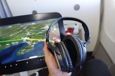 JALのノイズキャンセリングのヘッドホン