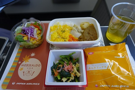 JALエコノミー機内食