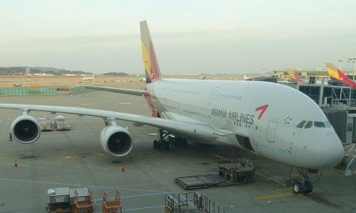 アシアナ航空ビジネスクラス。世界最大A380は2019年度も成田線で運行中。