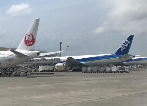 JALとANAのロゴ