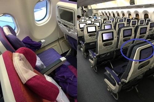 ANAとタイ航空のヘッドレストの比較