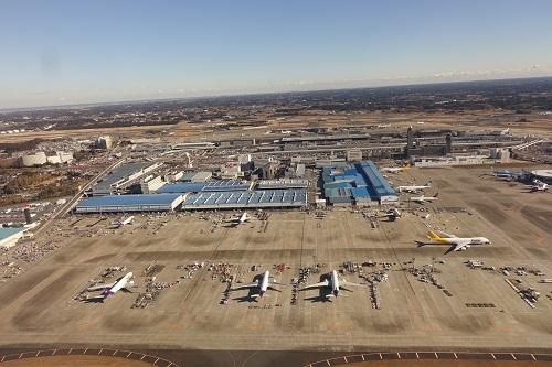 上空から見た成田空港