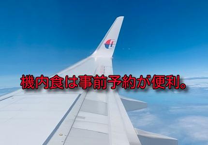 ビジネスクラスの機内食は事前オーダーがおすすめ!マレーシア航空で利用してみた。