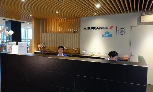 エールフランスのラウンジをバンコク・スワンナプーム空港で体験。