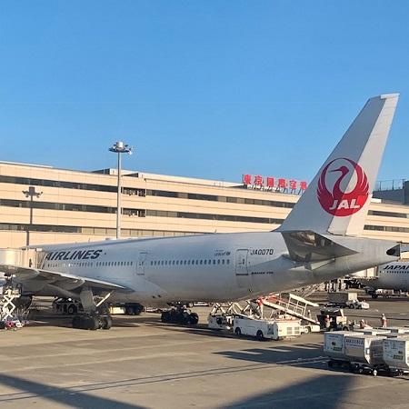 羽田空港で見たJAL機