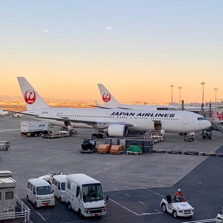 羽田空港で見るJAL機