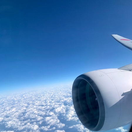機内から見た上空