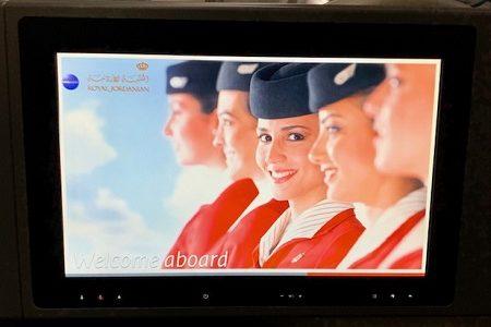 ロイヤルヨルダン航空で香港からバンコクへ。ビジネスクラス搭乗記。