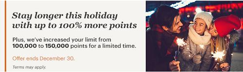 IHGポイント購入で100%ボーナスセール。単価0.55円で12月30日まで。