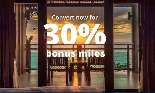 マリオット、IHGポイントをUAマイルに移行すると30%ボーナス!キャンペーンは9月30日まで。