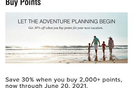 マリオットポイント購入セール開始!6月20日まで30%オフ!単価は0.95円。